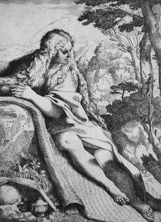 Sainte Madeleine au désert, eau-forte et gravure d'Annibale Carracci datée de 1591. Annibale Carracci, Baroque Art, Art Storage, Mary Magdalene, National Gallery Of Art, Art Database, Famous Art, Caravaggio, Italian Artist