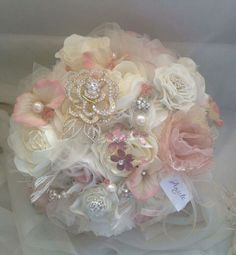Ivory and blush bouquet