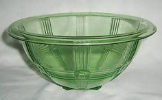 Pretty green depression glass