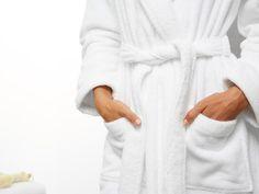 white cotton bathrobe $99.00