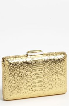 $48 Expressions NYC Snake Embossed Box Clutch | Nordstrom
