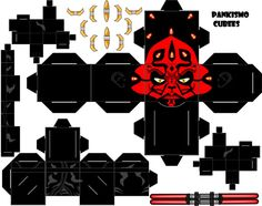 616 dark maul paper toy template Dark Maul