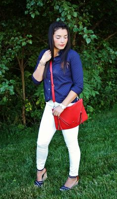 {Holiday Inspired} Red* White * Blue outfit