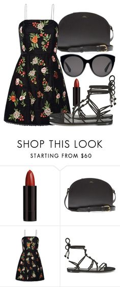 """Untitled #5188"" by beatrizvilar on Polyvore featuring Serge Lutens, A.P.C., Alice + Olivia, Temperley London and Gucci"