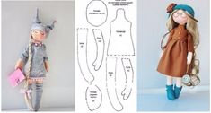 Moldes para hacer muñecas01 Doll Clothes Patterns, Doll Patterns, Rag Doll Tutorial, Felt Animal Patterns, Pink Doll, Sewing Dolls, Christmas Fabric, Soft Dolls, Doll Crafts