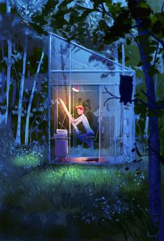 The Night Studio. Just the night version of the previous one! #pascalcampion