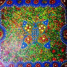 """Pures Glück, #Buddhismus Werk 01 Serie """"Glück und Zufriedenheit"""" by Atelier Zippo Blanket, Crochet, Art, Atelier, Contentment, Buddhism, Art Background, Chrochet, Kunst"""