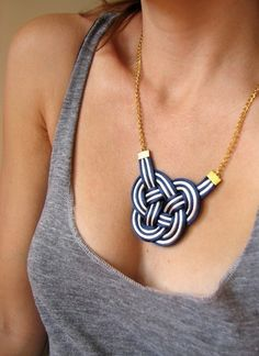double coin knot necklace