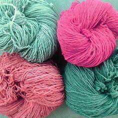 Amo estos colores! Madejas de lana 100% YE' ii Mexico