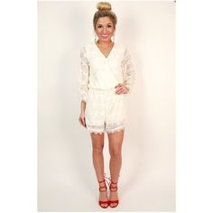 White eyelash lace romper This is a brand new white eyelash lace romper that is super cute for the summer! It has beautiful lace all over and the sleeves are wider at the bottom giving it that boho look. Super chic and classy for any event! Dee Elle Dresses Mini