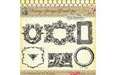Vintage Stamps No. 1 - Photoshop Gimp Brushes #Design #Shabby #Vintage