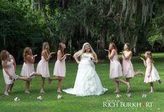 bridesmaids and bride.  Savannah, GA wedding at Bethesda Academy.  Photos by Rich Burkhart, www.photosbyrb.com