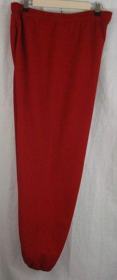 RED PANTS Women's Plus Size 3X  Elastic Waist Leg Bottoms Relaxing JERZEES #Jerzees #ActiveWear #Summer