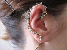 Punk bronze Dragon Ear Cuff Earring dragon jewelry by StylesBiju, $14.90