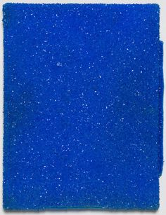 ROGER HIORNS Untitled, 2015 Copper sulphate on canvas 16 1/10 × 12 3/5 × 1 2/5 in