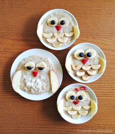 Mommy and Me Menagerie: Night Owls - cute way to serve breakfast