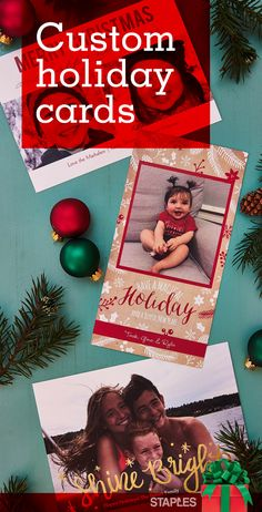 Send season's greetings in a way that really stands out. With our huge selection of custom photo cards, you'll be a holiday success, and you'll save! Get 20% off through 12/24/16. Just pick the perfect template, show off your favorite photos and let the compliments roll in.