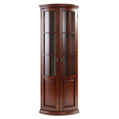 Curio Cabinet Decor, Corner Linen Cabinet, Corner Curio, Oak China Cabinet, Corner China Cabinets, Kitchen Cabinets, Dressing Table Modern, Home Bar Designs, Small Bathroom Vanities