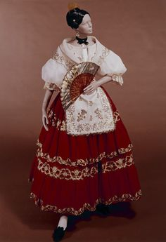 Woman's wedding costume, c. 1830, Elche, Spain.