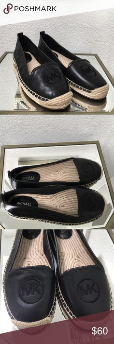 Michael Kors shoes size 6 Black leather MK shoes size 6 new without box/ price reduction 10/16 Michael Kors Shoes Flats & Loafers