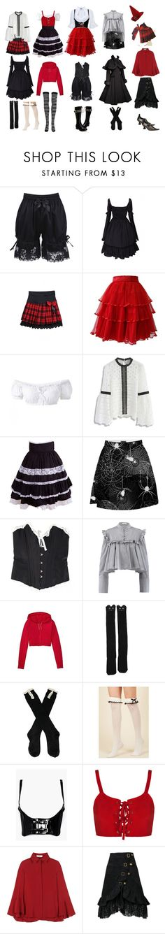 """""""Black forest witch"""" by rewolf71 ❤ liked on Polyvore featuring Arco, Demonia, Ella Singh, Chicwish, Agent Provocateur, J.W. Anderson, Athleta, Boohoo, Valentino and witch"""