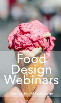 FREE and LIVE Food Design Webinars! =) join us to meet the heroes of Food Design! the experts, the food designers, the food innovators and the big thinkers =) Join the webinars here: http://onlineschooloffooddesign.org/courses/free-webinars