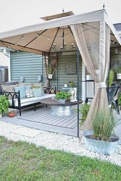 How To Find Backyard Porch Ideas On A Budget Patio Makeover Outdoor Spaces – 2019 - Patio Diy Budget Patio, Diy Patio, Outdoor Patio Ideas On A Budget Diy, Covered Deck Ideas On A Budget, Small Patio Canopy Ideas, Covered Patio Diy, Corner Patio Ideas, Backyard Deck Ideas On A Budget, Inexpensive Backyard Ideas