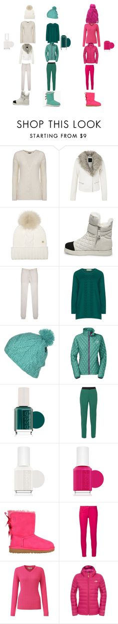 """""""me and my bffs winter day"""" by samantha-mcfralin on Polyvore featuring Woolrich, Steve Madden, Isolde Roth, Volcom, The North Face, Essie, M Missoni, UGG Australia, Boutique Moschino and Tulchan"""