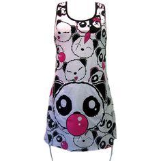 Killer Panda Gumball Dress | Gothic Clothing | Emo clothing |... ❤ liked on Polyvore