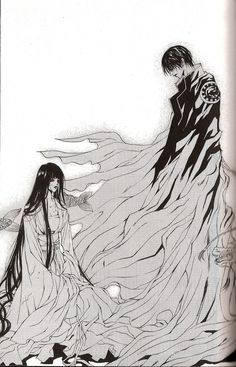 "Soah and Habaek - a page from the Korean #manga ""Bride of the Water God"""