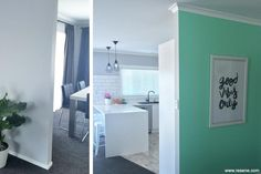 entranceway and lounge Resene Colours, First Night, Entrance, Teal, Lounge, Storage, Kitchen, Inspiration, Furniture