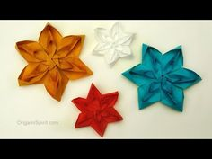 How to Make a Tessellated Origami Flower
