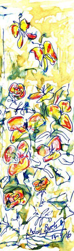 Estelada d'abril  14-4-16  cafè bolígraf llapis color punt s Dolors Buch Castañer
