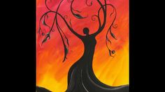Whimsical Tree Goddess Step by Step Acrylic Painting on Canvas for Beginners - YouTube
