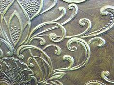 seen at Heimtextil 2012, prominent texture, mimics antiqued metal