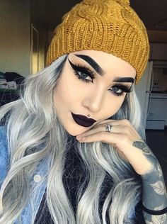"""ღ sαℓσмé ∂єsєrτ ღ"" by salome desert Pretty Makeup, Love Makeup, Makeup Inspo, Makeup Inspiration, Makeup Tips, Beauty Makeup, Makeup Looks, Hair Makeup, Hair Beauty"
