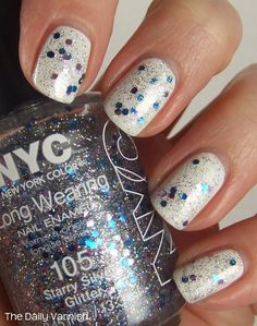 NYC Starry Silver Glitter 80% Just pay shipping- ($0.25 to add to order)