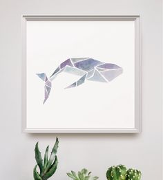 Watercolor Geometric Sea Animal Art Print by Peach or Plum? on Scoutmob