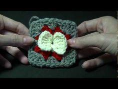 Bow Granny Square Crochet Tutorial