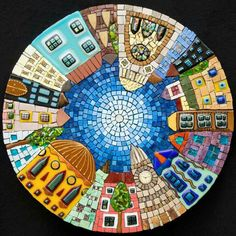 Mosaic art has been a mainstay of interior home decor projects for centuries. Let's discover the timeless uses of mosaic art throughout history until now, and take a pit-stop at mosaic table top designs. Mosaic Artwork, Mosaic Wall, Mosaic Glass, Mosaic Tiles, Wall Tiles, Stained Glass, Glass Art, Mosaic Crafts, Mosaic Projects