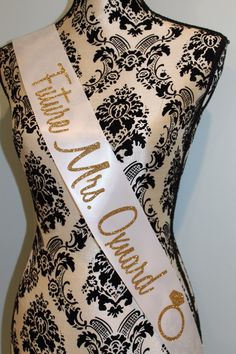 Bachelorette sash by myeverydayparty on Etsy https://www.etsy.com/listing/191308562/bachelorette-sash