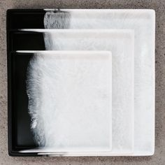 Martha Sturdy dual pour charcoal and white marble resin trays. www.providehome.com