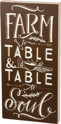 Item # 31755 | Box Sign - Farm To Table | Primitives by Kathy