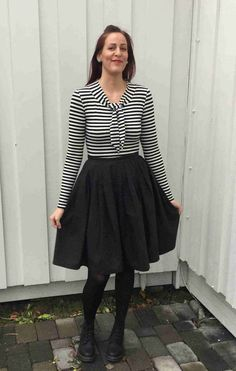 Cecilie's tie-neck Agnes top - made on Learn to Sew Jersey Tops online workshop - so cute!