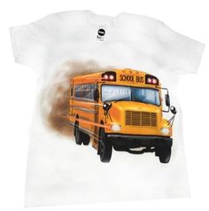 Kids School Bus T-Shirts (Classic Yellow)
