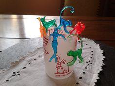 NEW 6x tiki cocktail drink animals: plastic retro drink charms - Hawaii luau party supply - neon camel, monkey, elephant, mermaid, la sirena on Etsy, $3.00