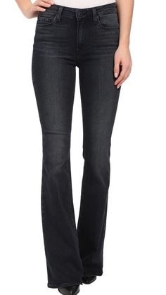 Paige High Rise Bell Canyon Women's Black Flare Jeans Size 29 X 35 NWT $219 #PaigeDenim #Flare
