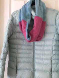 b3d63ff4 100% CASHMERE infinity Scarf In Blue And Raspberry Pink | eBay Raspberry,  Cashmere,