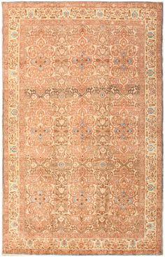 Antique Persian Floral Tabriz Rug 50363