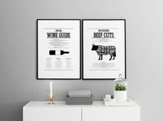 Scandinavian decor. Wall art for kitchen. Scandinavian style. Black and white. Desenio.com